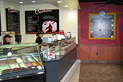 Front retail counter design and construction by Paramount Construction and Contracting