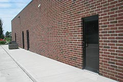Rear of commercial building. Brick work by Paramount Construction and Contracting.