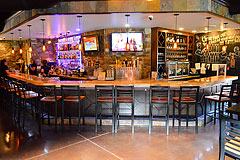 Custom commerical bar interior by Paramount Construction and Contracting