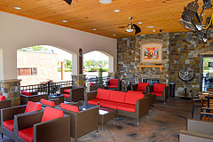 Fun, contemporary exterior patio for restaurants by Paramount Construction and Contracting