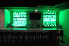 Banquet hall entertainment center with full bar by Paramount Construction and Contracting
