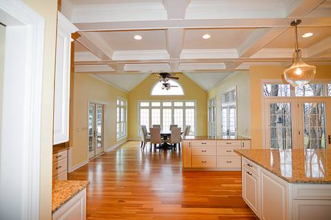 Traditional but open floorplan