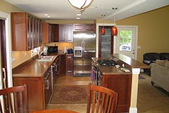 Easy access kitchen design and construction
