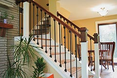 Beautiful railing work on stairs