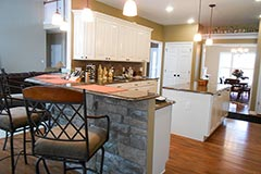 Open kitchen design and construction